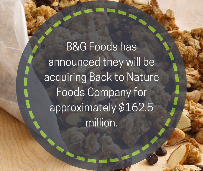 B&G Foods To Acquire Back To Nature Foods